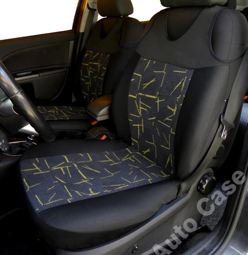01-14 FULL LEATHER LOOK CAR SEAT COVER SET BLACK VAUXHALL VIVARO
