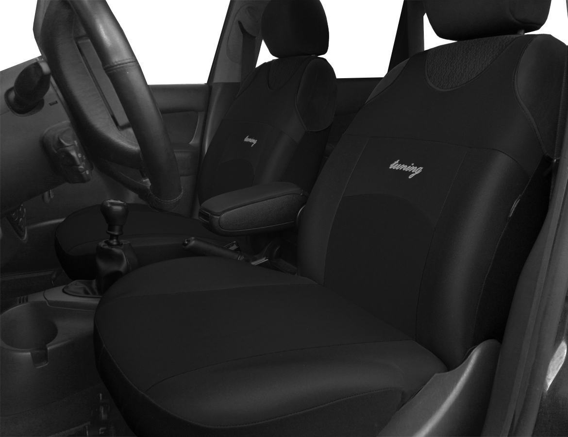 2 x Fronts FORD RANGER MK3 EXTRA Heavy Duty Black Waterproof Car Seat Covers