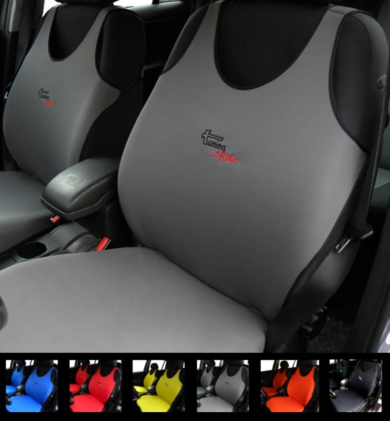 2 GREY CAR SEAT COVERS FOR ALFA ROMEO MITO GIULIA