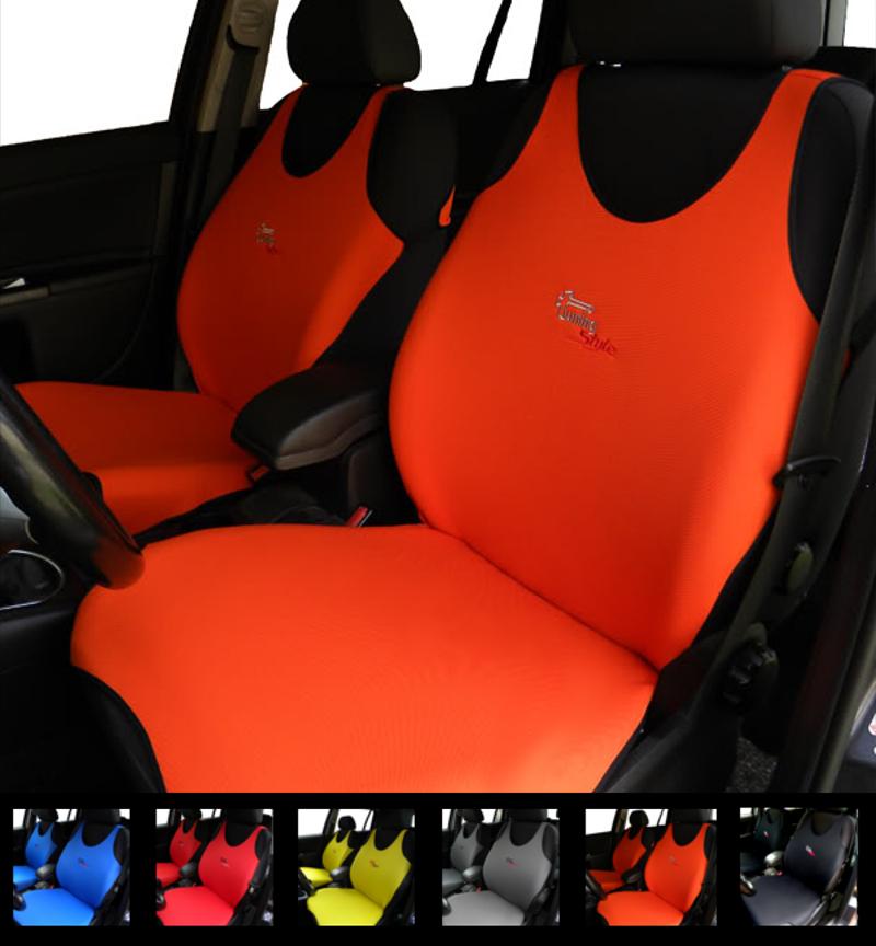 Volkswagen California Estate Review 2005 2015: ORANGE CAR SEAT COVERS FOR VW AMAROK TRANSPORTER
